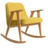 sessel, mobel, wohnen, schaukelstuehle, SCHAUKELSTUHL 366 WOOL - 366 concept 366 rocking chair oak 02 wool mustard 100x100