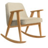 sessel, mobel, wohnen, schaukelstuehle, SCHAUKELSTUHL 366 WOOL - 366 concept 366 rocking chair oak 02 wool sand 100x100