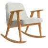 sessel, mobel, wohnen, schaukelstuehle, SCHAUKELSTUHL 366 WOOL - 366 concept 366 rocking chair oak 02 wool white blue 100x100