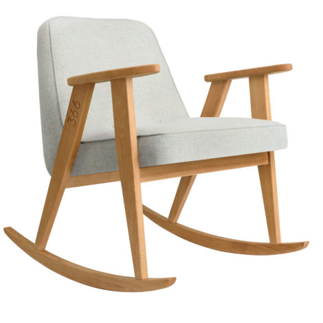 sessel, mobel, wohnen, schaukelstuehle, SCHAUKELSTUHL 366 WOOL - 366 concept 366 rocking chair oak 02 wool white blue 470x470