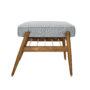 , FUßBANK FOX | TWEED - 366 concept footrest ash 03 tweed grey 90x90