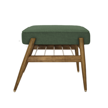, FUßBANK FOX | WOOL - 366 concept footrest ash 03 wool bottle green 350x350