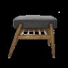 sessel, mobel, wohnen, fussbaenke, FUßBANK FOX | WOOL - 366 concept footrest ash 03 wool grey black 100x100