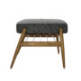 , FUßBANK FOX | WOOL - 366 concept footrest ash 03 wool grey black 90x90