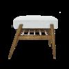 sessel, mobel, wohnen, fussbaenke, FUßBANK FOX | WOOL - 366 concept footrest ash 03 wool white blue 100x100