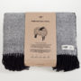 , WOOL BLANKET RURU BLACK - RURU black packaging 1 90x90