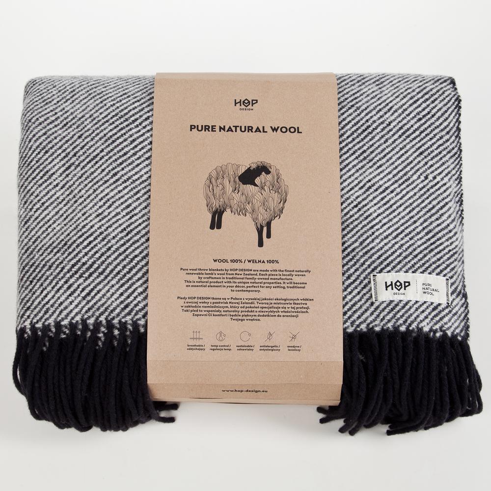 wohntextilien, wohnen, decken-und-ueberwuerfe, SCHURWOLLDECKE YETI GELB - RURU black packaging 1