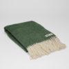 home-fabrics, wedding-gifts, interior-design, greenery-en, decken-und-ueberwuerfe-en, WOOL BLANKET RURU GREEN - RURU green bottle 100x100