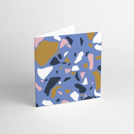 postkarten-und-grusskarten, papierartikel, GRUßKARTE TERRAZZO BLUE - TER 1 e1539263494874 470x470