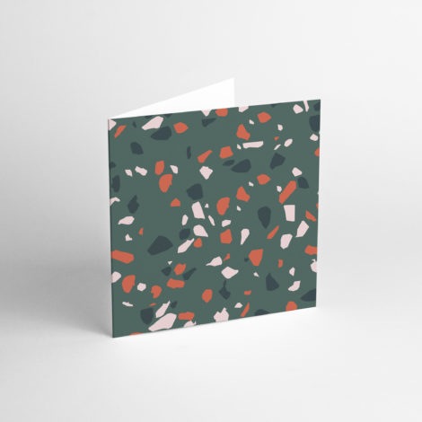 paper-goods, postcards-and-greeting-cards, GREETING CARD TERRAZZO GREEN II - TER 2 470x470