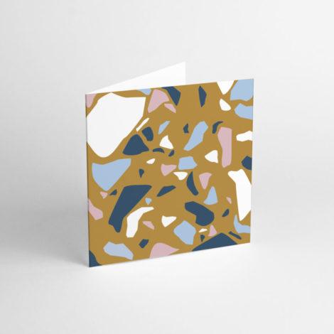 postkarten-und-grusskarten, papierartikel, GRUßKARTE TERRAZZO BROWN - TER 3 e1539266665832 470x470