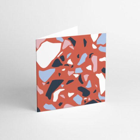 postkarten-und-grusskarten, papierartikel, GRUßKARTE TERRAZZO RED - TER 6 e1539264805213 470x470