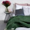 home-fabrics, wedding-gifts, interior-design, greenery-en, decken-und-ueberwuerfe-en, WOOL BLANKET RURU GREEN - hop 21 100x100