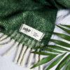 home-fabrics, wedding-gifts, interior-design, greenery-en, decken-und-ueberwuerfe-en, WOOL BLANKET RURU GREEN - hop 22 100x100