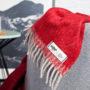 , WOOL BLANKET RURU RED - hop 24 90x90