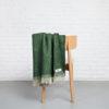 home-fabrics, wedding-gifts, interior-design, greenery-en, decken-und-ueberwuerfe-en, WOOL BLANKET RURU GREEN - hop 30 100x100
