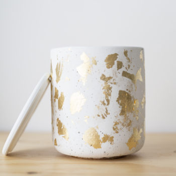 , SCENTED SOY CANDLE GOLD FLAKES - QY1C0010 350x350
