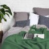 wohntextilien, wohnen, hochzeitsgeschenke, decken-und-ueberwuerfe, SCHURWOLLDECKE YETI FLASCHENGRÜN - YETI green3 100x100