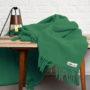 , SCHURWOLLDECKE YETI FLASCHENGRÜN - YETI green4 90x90