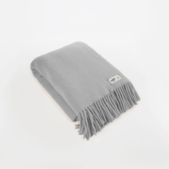 , WOOL BLANKET YETI LIGHT GREY - YETI jasny szary1 350x350