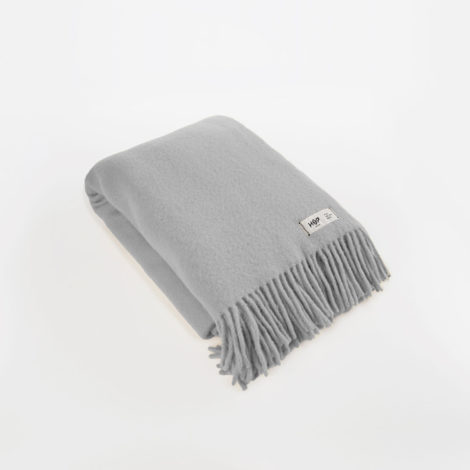 , WOOL BLANKET YETI LIGHT GREY - YETI jasny szary1 470x470