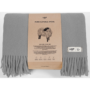 , WOOL BLANKET YETI LIGHT GREY - YETI jasny szary2 90x90