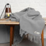 , WOOL BLANKET YETI LIGHT GREY - YETI jasny szary4 90x90
