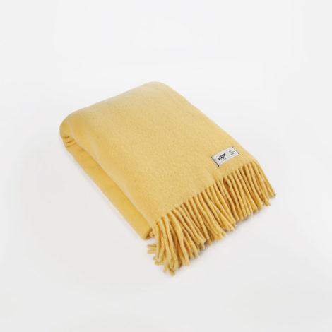 , WOOL BLANKET YETI YELLOW - YETI pastelowy żółty1 470x470