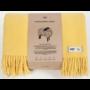 , WOOL BLANKET YETI YELLOW - YETI pastelowy żółty2 90x90