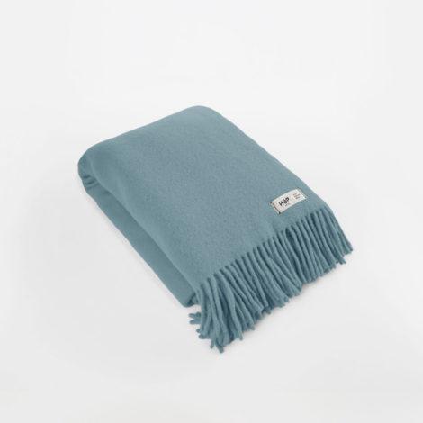 , WOOL BLANKET YETI PASTEL BLUE - YETI pastelowy błękit1 470x470
