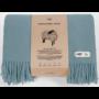 , WOOL BLANKET YETI PASTEL BLUE - YETI pastelowy błękit2 90x90