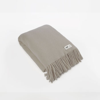 , WOOL BLANKET YETI EARTH GREY - YETI szary ziemisty1 350x350