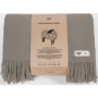 , WOOL BLANKET YETI EARTH GREY - YETI szary ziemisty2 90x90