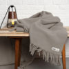 home-fabrics, wedding-gifts, interior-design, decken-und-ueberwuerfe-en, WOOL BLANKET YETI EARTH GREY - YETI szary ziemisty4 100x100
