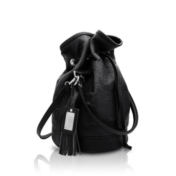 , 2.5 PINATEX MIDNIGHT BLACK BUCKET BAG - big 2.5 pinatex 350x350