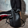 , 2.5 PINATEX MIDNIGHT BLACK BUCKET BAG - big s.2.5 90x90