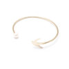 jewellery, braclets, BRACELET WITH A PEARL | PLATED WITH GOLD - 16a 100x100