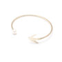 , BRACELET WITH A PEARL | PLATED WITH GOLD - 16a 90x90
