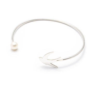 jewellery, braclets, BRACELET WITH A PEARL | PLATED WITH GOLD - 7a 350x350