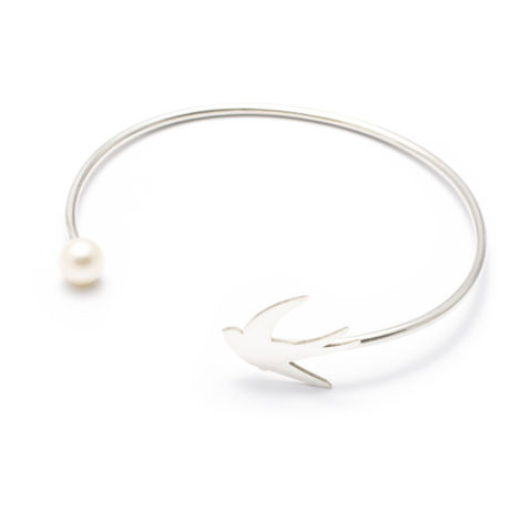 , BRACELET WITH A PEARL | SILVER - 7a 470x470
