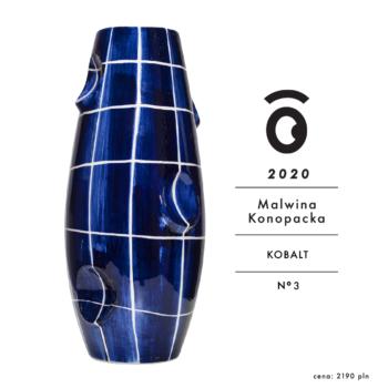 vases, porcelain_and_ceramics, interior-design, OKO VASE CHEQUERED COBALT - OKO dostepne modele 9 2020 10 350x350