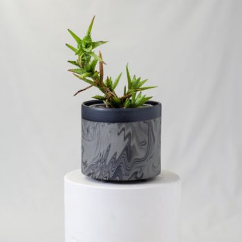 porcelain_and_ceramics, home-accessories, plates, others, interior-design, holders, TRAY MARBLED BLACK - PLANTER 1500 MARBLE BLACK W02 350x350