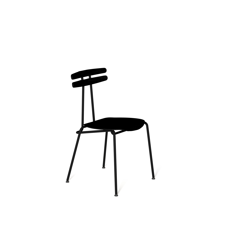 wohnen, stuhle, mobel, TROJKA STUHL ALL BLACK - MEDIUM - TROJKA medium allblack 1