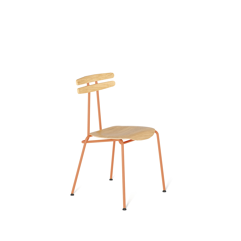 wohnen, stuhle, mobel, TROJKA STUHL - MEDIUM - TROJKA medium oak dustyclay 1