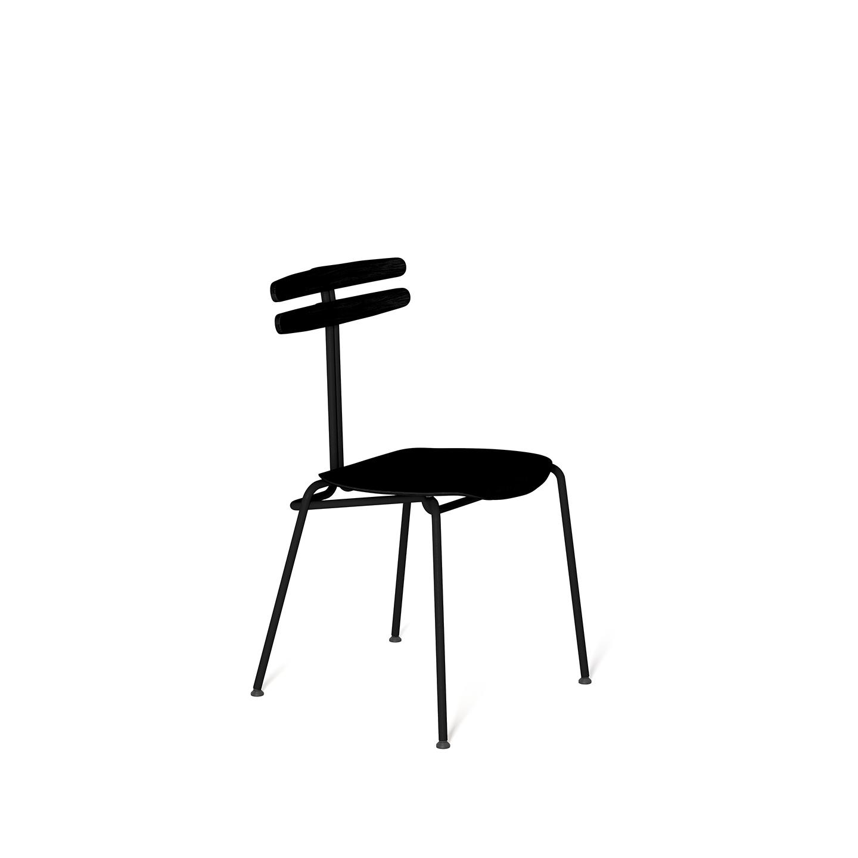 wohnen, stuhle, mobel, TROJKA STUHL ALL BLACK - NARROW - TROJKA narrow allblack 2