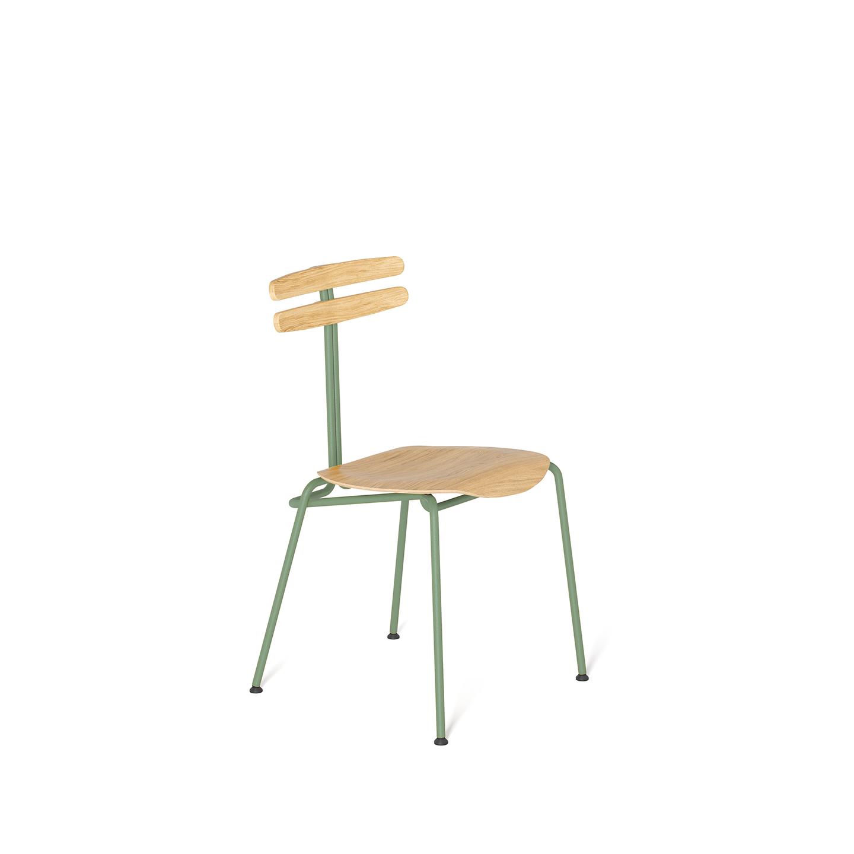 wohnen, stuhle, mobel, TROJKA STUHL - NARROW - TROJKA narrow oak mint 1