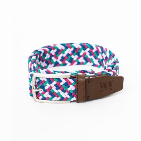 bekleidung, guertel, accessoires-bekleidung, GÜRTEL MULTICOLOR FLAMINGO - belt woven multicolor green pink blue 470x470