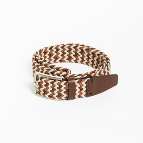 bekleidung, guertel, accessoires-bekleidung, GÜRTEL MULTICOLOR BROWN - belt woven multicolor light brown kabak e1571835670301 470x470