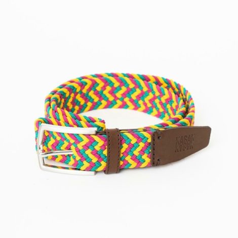 bekleidung, guertel, accessoires-bekleidung, GÜRTEL MULTICOLOR TROPICAL - belt woven multicolor yellow green red 470x470