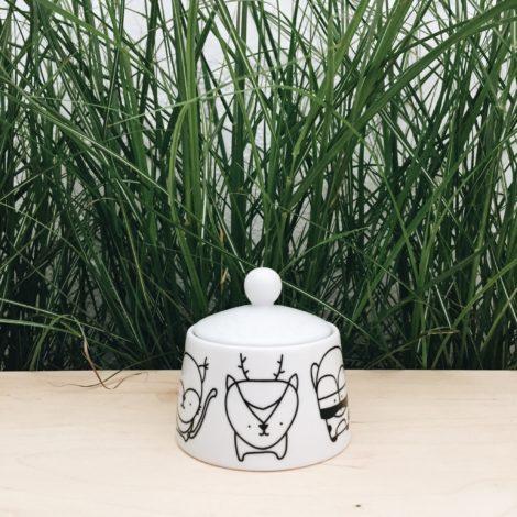 porzellan_und_keramik, wohnen, porzellan-andere, ZUCKERDOSE WALDTIERE - cukiernica zwierzeta lesne forrest 1 470x470